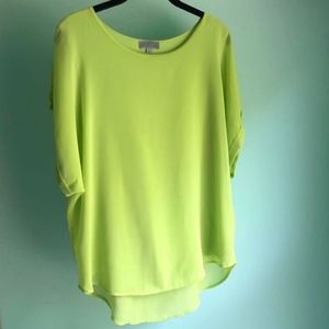 Lime Green Chiffon Top